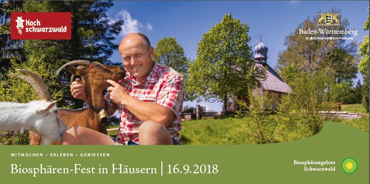 Mitmachen, Erleben, Genießen: Biosphären-Fest am 16. September in Häusern/ 40 Akteure zeigen, was im Biosphärengebiet Schwarzwald steckt