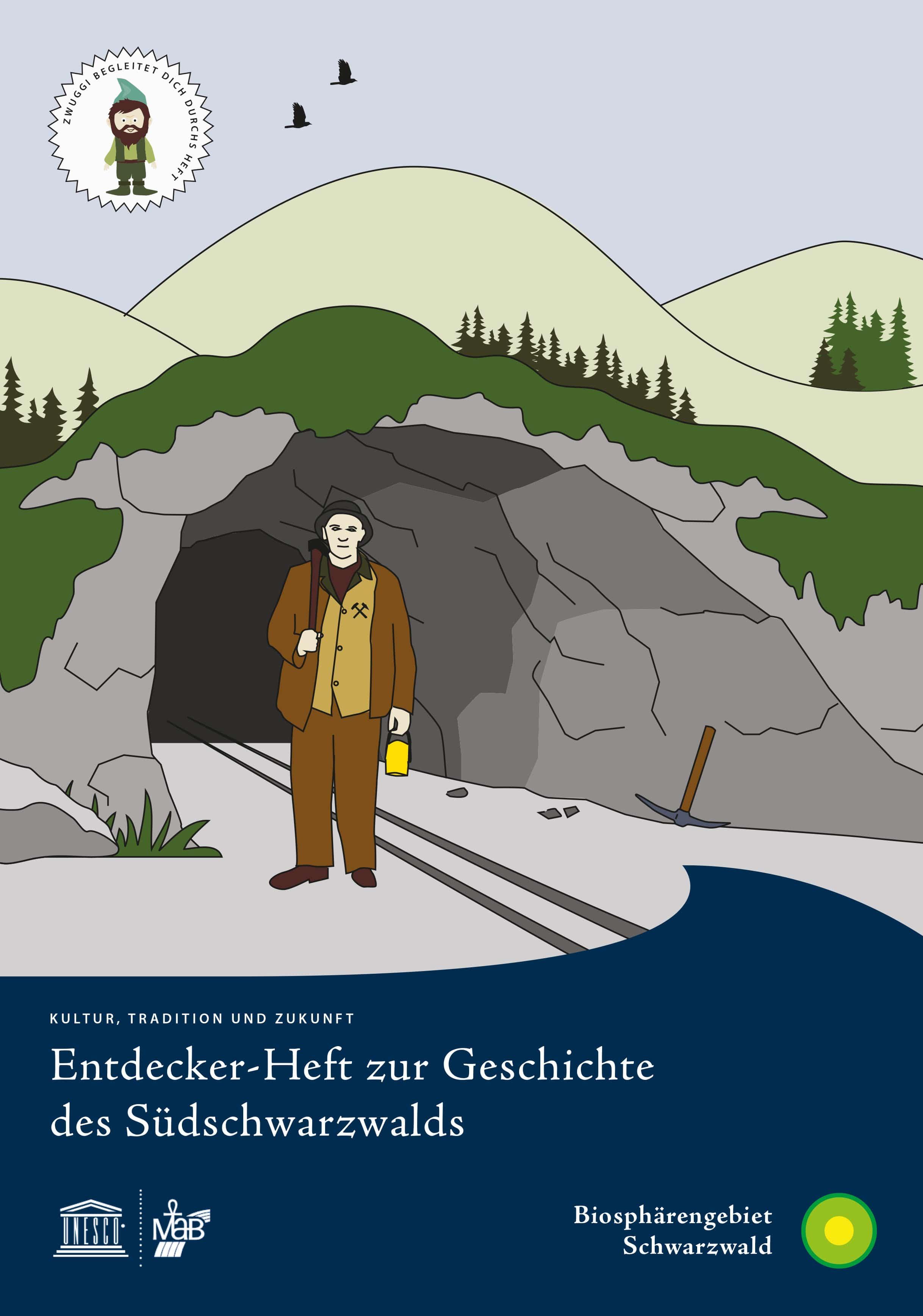 """Mit """"Zwuggi"""" auf Zeitreise gehen: Neues Entdeckerheft wandelt auf den Spuren der Geschichte des Südschwarzwalds"""