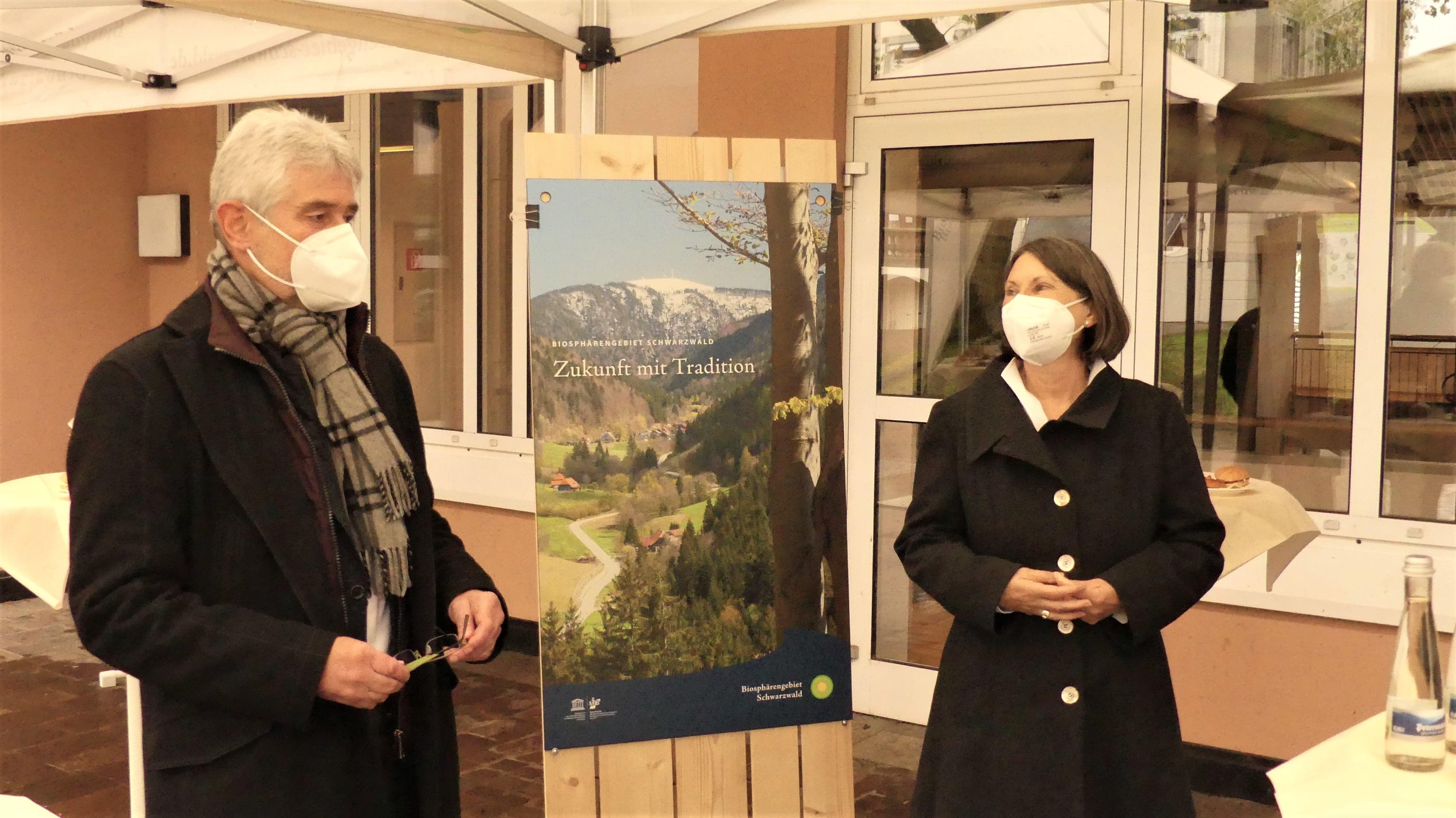 Regierungspräsidentin Bärbel Schäfer eröffnet dezentrale Infostelle des Biosphärengebiets Schwarzwald in Wehr